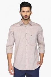 Allen Solly Mens Regular Fit Slub Shirt