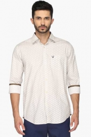 Allen Solly Mens Slim Fit Printed Shirt