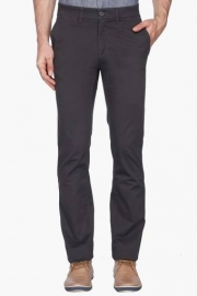 Mens 5 Pocket Solid Casual Chinos