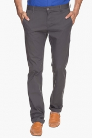 Mens Slim Fit Solid Chinos