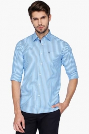 Allen Solly Mens Slim Fit Stripe Shirt