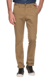 Mens Slim Fit Solid Formal Trousers