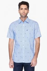 Allen Solly Mens Regular Collar Printed Shirt