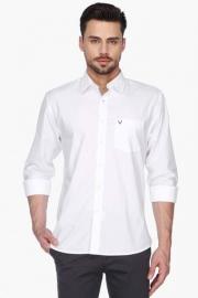 Allen Solly Mens Regular Collar Solid Shirt