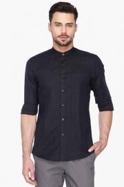 Allen Solly Mens Mao Collar Solid Shirt