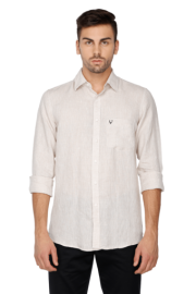 Allen Solly Mens Full Sleeves Slim Fit Casual Solid Shirt