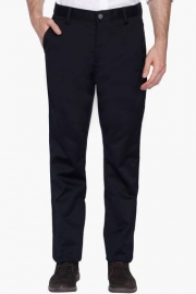 Mens Flat Front Slim Fit Slub Trouser