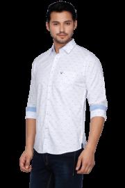 Allen Solly Mens Full Sleeves Slim Fit Casual Printed Shirt