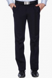 Mens Pleated Front Slim Fit Solid Formal Trouser