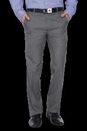 Mens 4 Pocket Flat Front Slim Fit Solid Formal Trouser