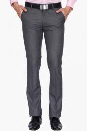 Mens 4 Pocket Slim Fit Slub Formal Trousers