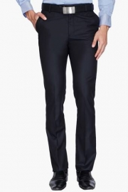 Mens 4 Pocket Tapered Fit Solid Formal Trousers