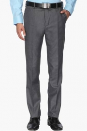 Mens 4 Pocket Tapered Fit Slub Formal Trousers
