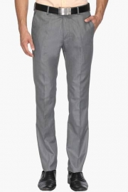 Mens Slim Fit 4 Pocket Slub Formal Trousers
