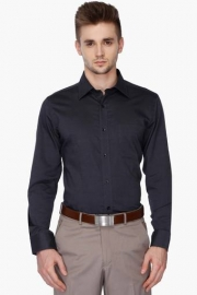 Mens Full Sleeves Slim Fit Formal Solid Shirt