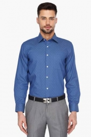 Mens Full Sleeves Formal Dotted Shirt