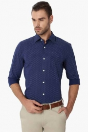 Peter England Mens Slim Fit Printed Shirt