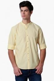 Peter England Mens Slim Fit Solid Shirt