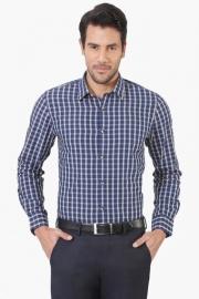 Peter England Mens Slim Fit Check Shirt