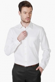 Peter England Mens Slim Fit Solid Shirt