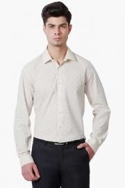 Peter England Mens Slim Fit Printed Shirt