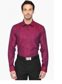 Mens Regular Fit Slub Shirt