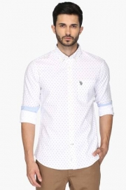 U S Polo Mens Regular Fit Printed Shirt