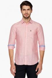 U S Polo Mens Regular Fit Stripe Shirt
