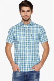 U S Polo Mens Regular Fit Check Shirt