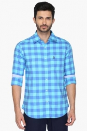 U S Polo Mens Regular Fit Check Shirt