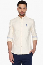 U S Polo Mens Full Sleeves Casual Solid Shirt