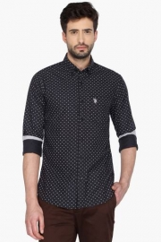 U S Polo Mens Full Sleeves Casual Printed Shirt