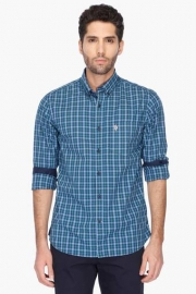 U S Polo Mens Tailored Fit Check Shirt