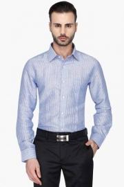 Mens Full Sleeves Formal Stripe Shirt