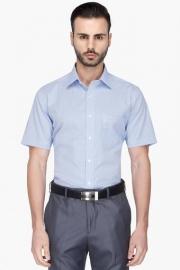 Mens Half Sleeves Formal Check Shirt