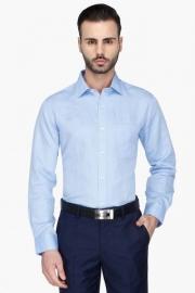 Mens Full Sleeves Formal Solid Shirt