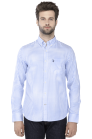U S Polo Mens Full Sleeves Slim Fit Causal Check Shirt