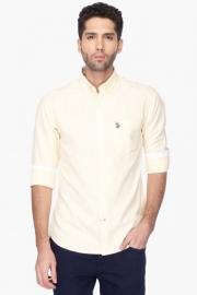 U S Polo Mens Full Sleeves Slim Fit Casual Stripe Shirt