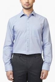 Park Avenue Park Avenue Mens Full Sleeves Slim Fit Formal Slub Shirt
