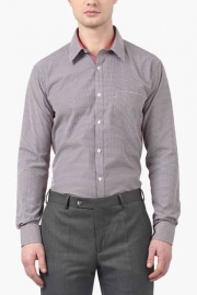 Park Avenue Mens Slim Fit Houndstooth Shirt
