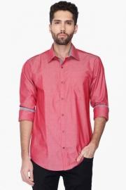 Park Avenue Mens Slim Fit Slub Shirt