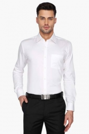 Park Avenue Mens Solid Regular Collar Shirt