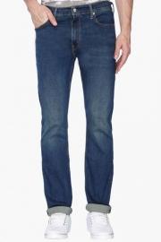 Mens Straight Fit Mild Wash Jeans