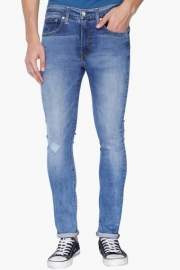Mens Extreme Skinny Fit Stone Wash Jeans
