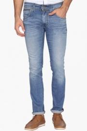 Mens Skinny Straight Fit 5 Pocket Heavy Wash Jeans