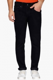 Mens 5 Pocket Slim Fit Coated Jeans