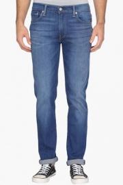 Levis Mens Slim Fit 5 Pocket Heavy Wash Jeans