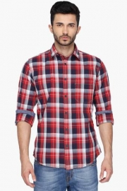 Pe Pe Mens Regular Collar Check Shirt
