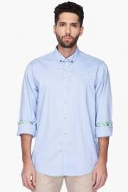 Pe Pe Mens Button Down Collar Solid Shirt