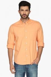 Pe Pe Mens Slim Fit Solid Shirt
